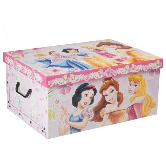 Disney princess opbergdoos 51 cm. deze ruime kartonnen opbergdoos met vrolijke plaatjes van disney princess ...
