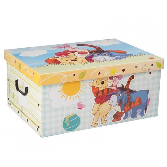 Winnie de poeh opbergdoos 51 cm. deze ruime kartonnen opbergdoos met vrolijke plaatjes van winnie de poeh ...