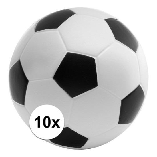 10x Anti-stressballen voetbal 6,1 cm