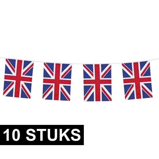 10x Union Jack vlaggenlijnen 10 meter