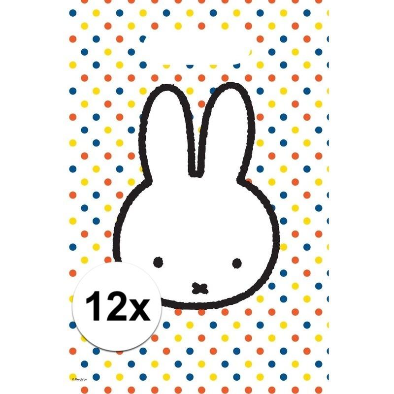 12x Nijntje themafeest uitdeelzakjes-snoepzakjes 30 x 21 cm