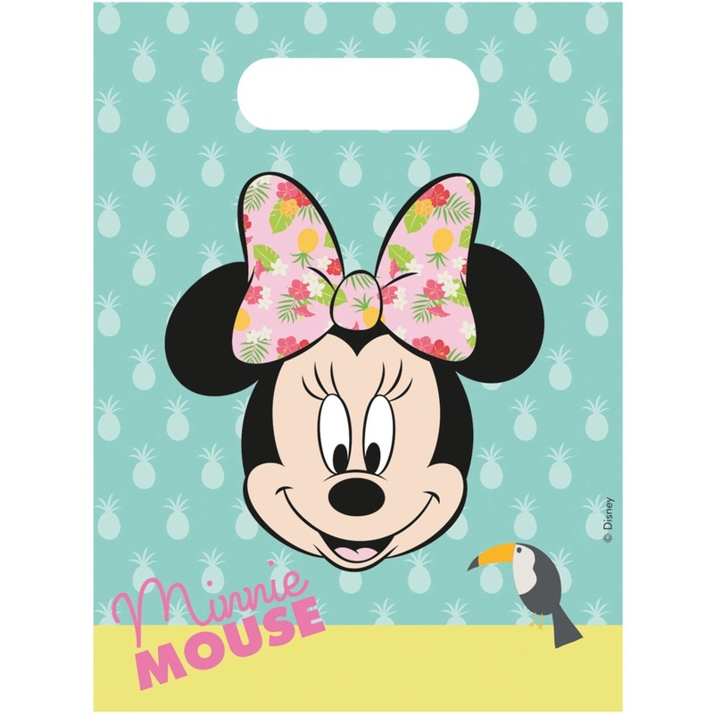 18x Disney Minnie Mouse tropical themafeest uitdeelzakjes