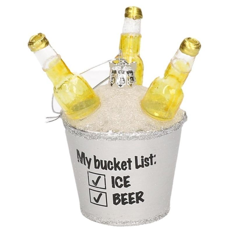 1x Bier thema deco hanger figuur My Bucket List 9,5 cm