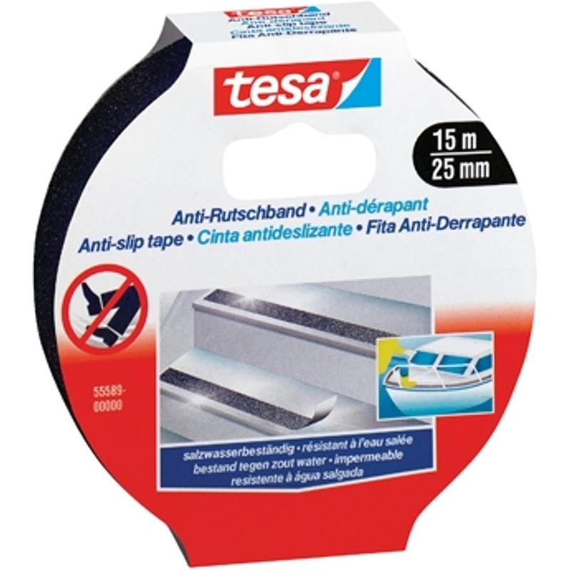 1x Tesa anti-slip tape zwart op rol 15 meter