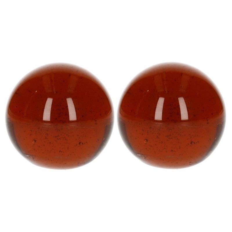 2x Knikkers bruin 6 cm