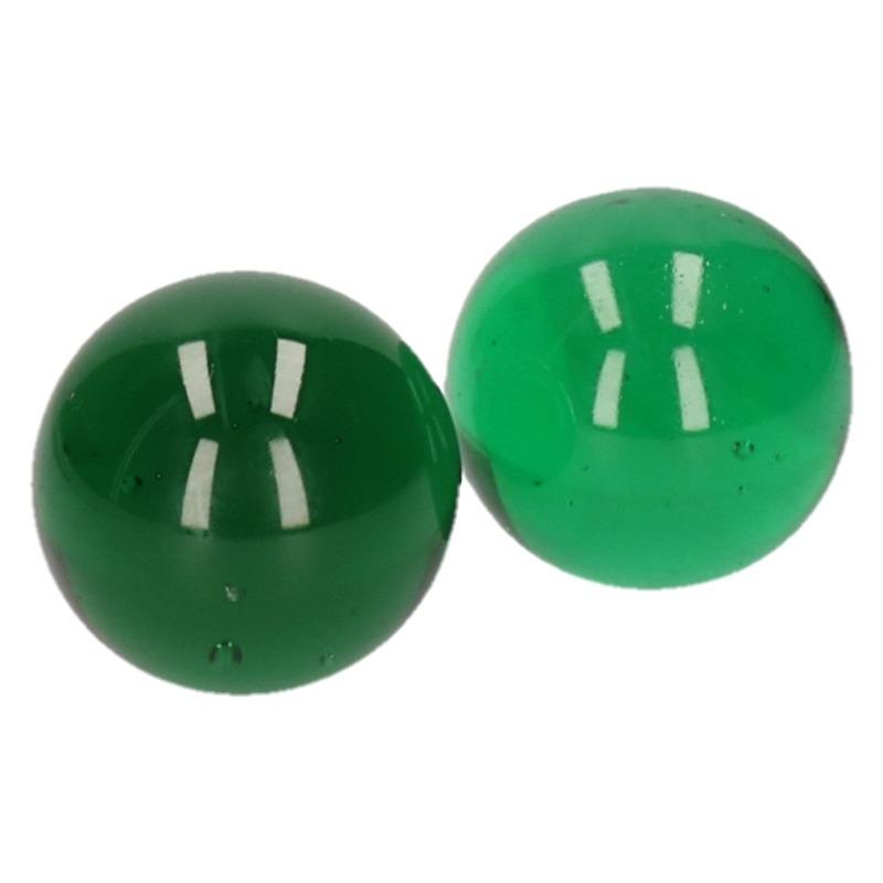 2x Knikkers groen 6 cm
