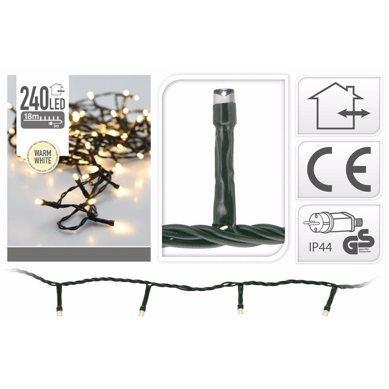 2x stuks Kerstverlichting warm wit buiten 240 lampjes