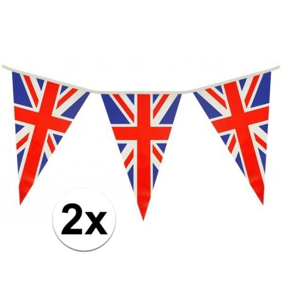 2x Union Jack vlaggenlijn 7 meter