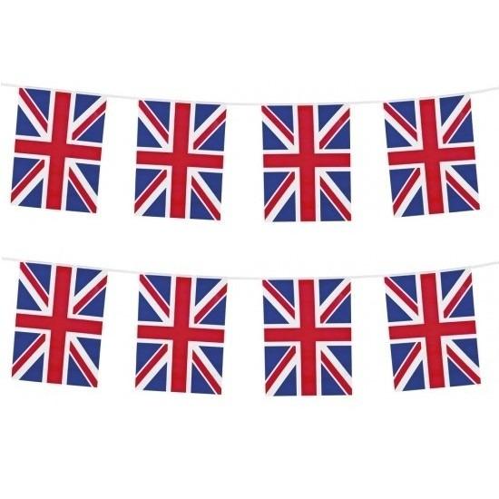 2x Union Jack vlaggenlijnen 10 meter