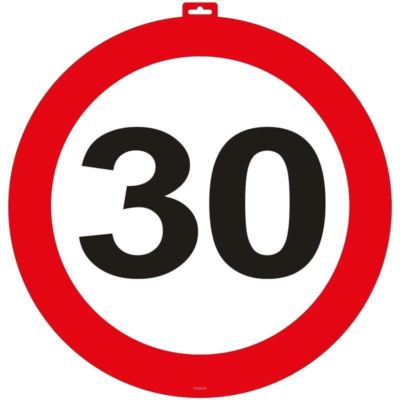 30 Jaar verkeersbord deurbord 47 cm