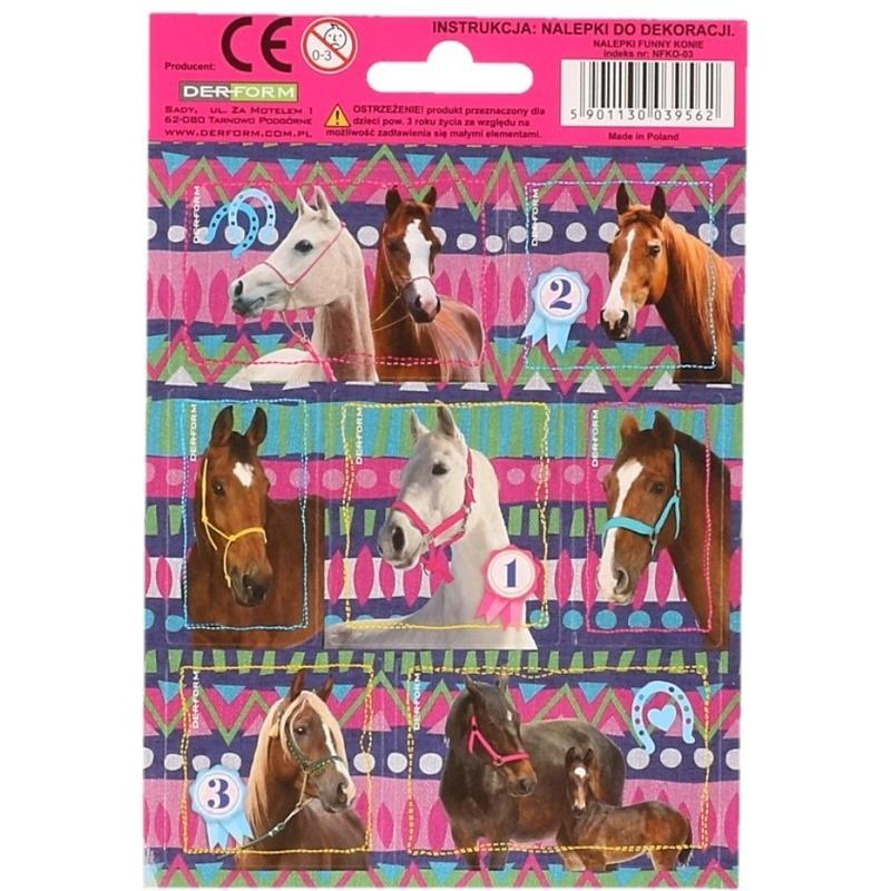 32x Paarden dieren stickers