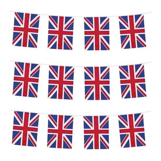 3x Union Jack vlaggenlijnen 10 meter