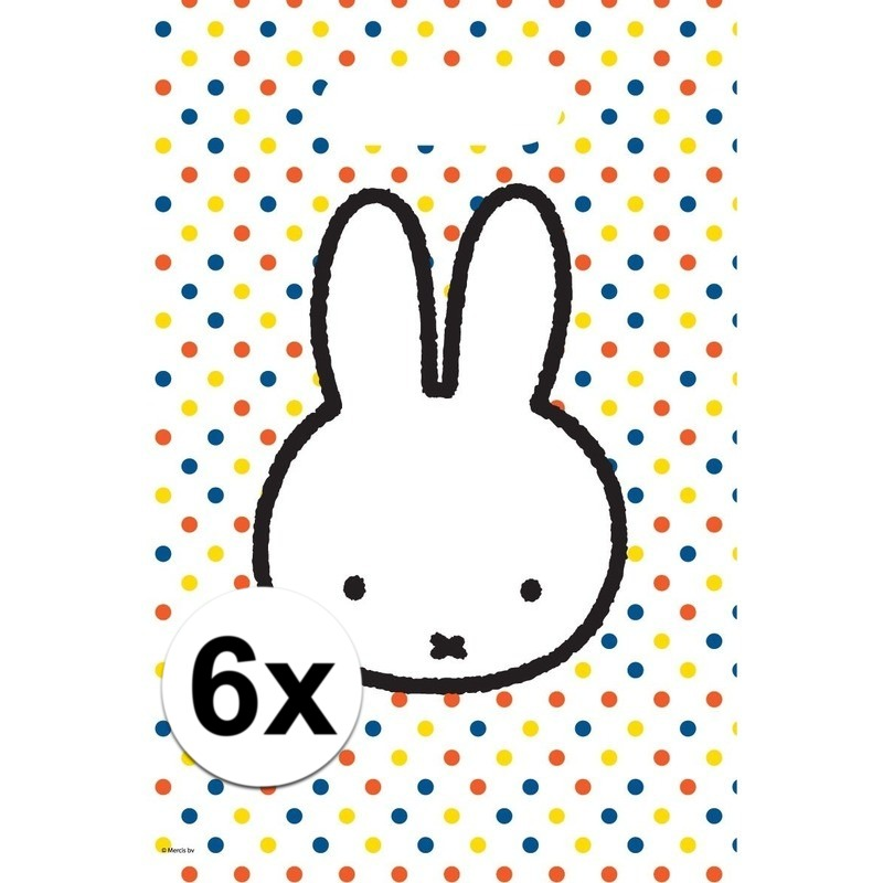 6x Nijntje themafeest uitdeelzakjes-snoepzakjes 30 x 21 cm