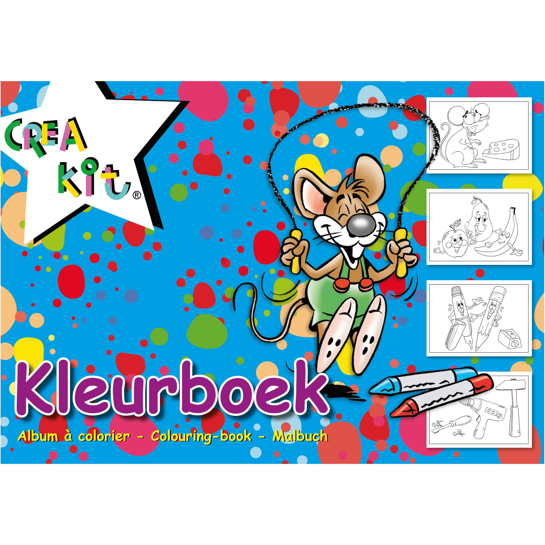 A4 kleurplaten-kleurboeken blauw 24 vellen