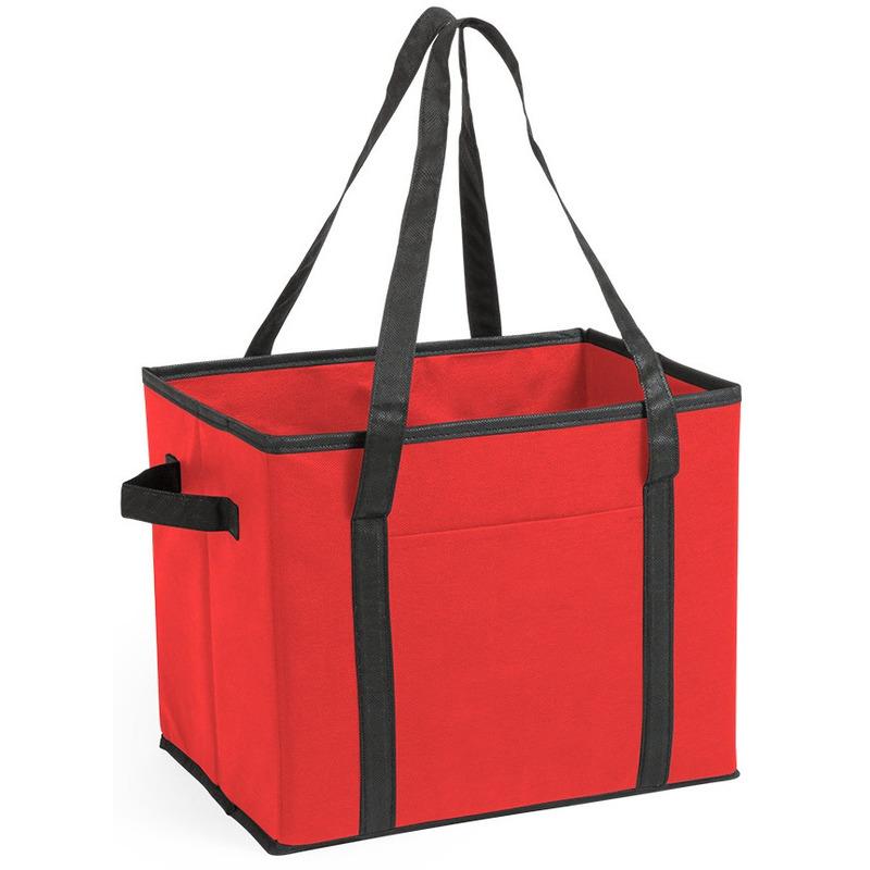 Auto kofferbak-kasten organizer tas rood vouwbaar 34 x 28 x 25 cm