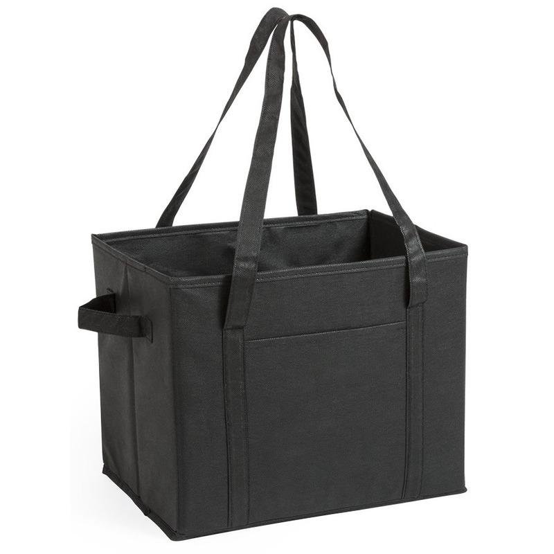 Auto kofferbak-kasten organizer tas zwart vouwbaar 34 x 28 x 25 cm