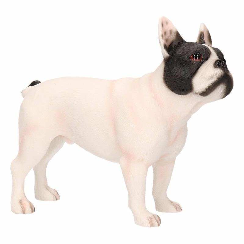 Beeldje witte Franse Bulldog hond 11 cm