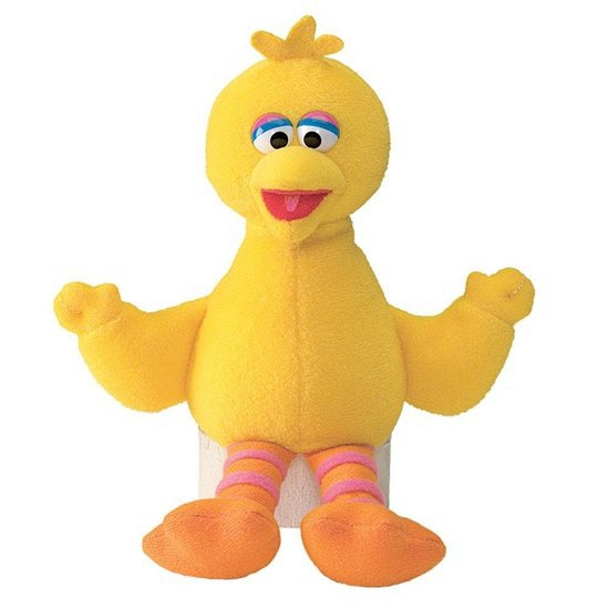 Big Bird bean bag knuffel 16 cm