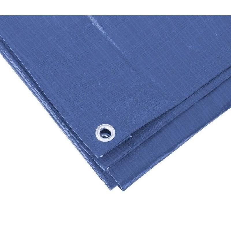 Blauw afdekzeil-dekzeil 8 x 10 meter