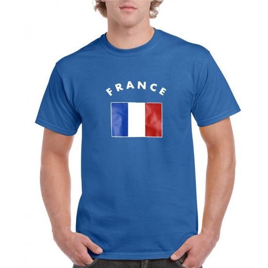 Blauw heren t-shirt Frankrijk