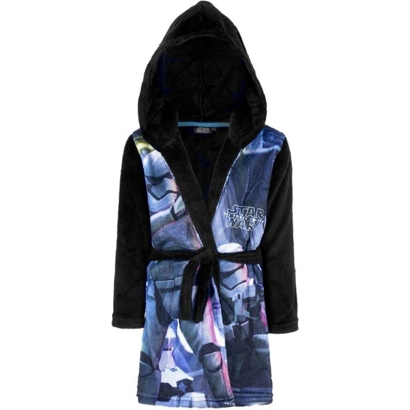 Blauw-zwarte Star Wars badjas met capuchon voor jongens
