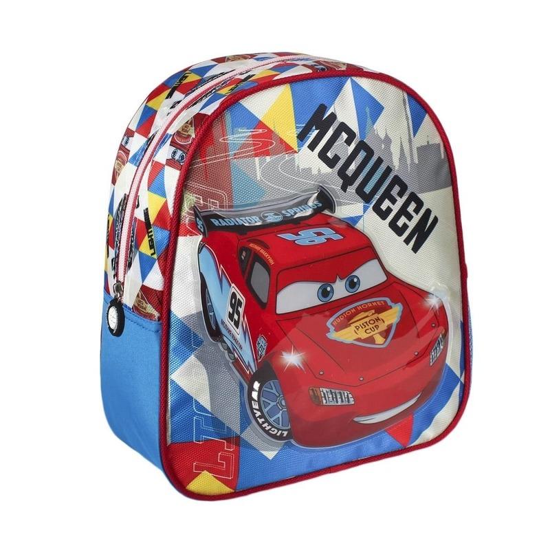 Blauwe Disney Cars Lightning McQueen rugtas voor kinderen