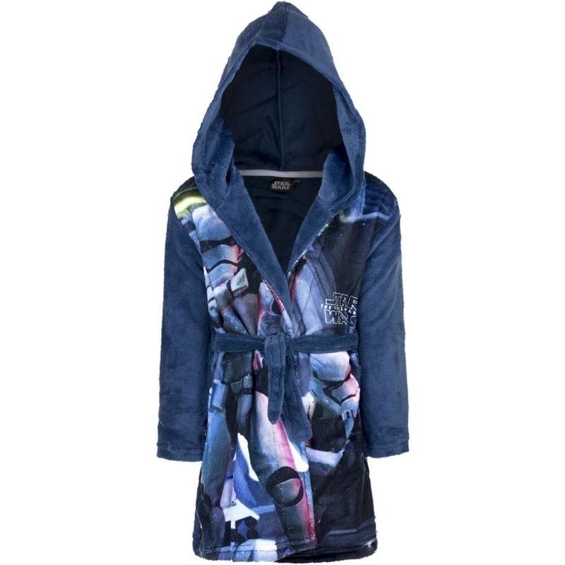 Blauwe Star Wars badjas met capuchon voor jongens