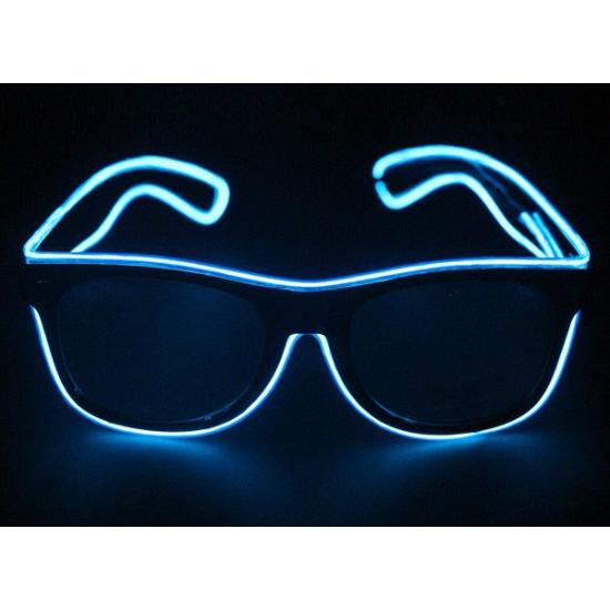 Bril met blauwe LED verlichting
