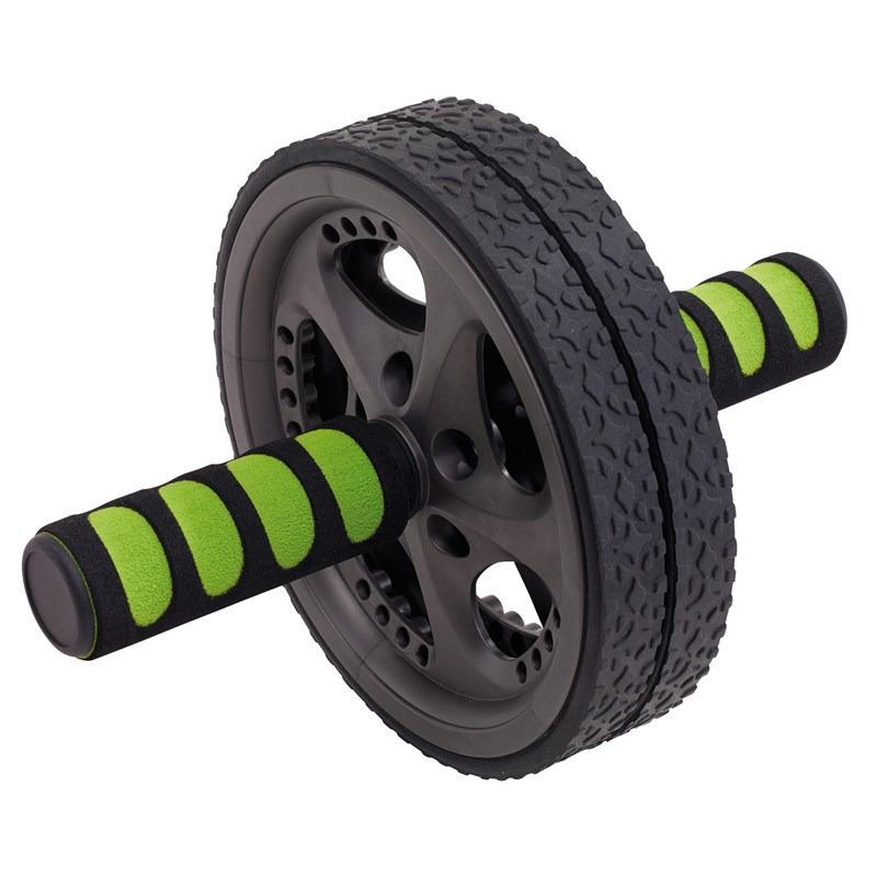 Buikspierwiel-fit wheel zwart-groen