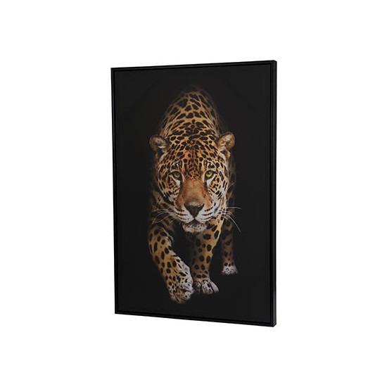Canvas schilderij 90 x 60 cm luipaarden print