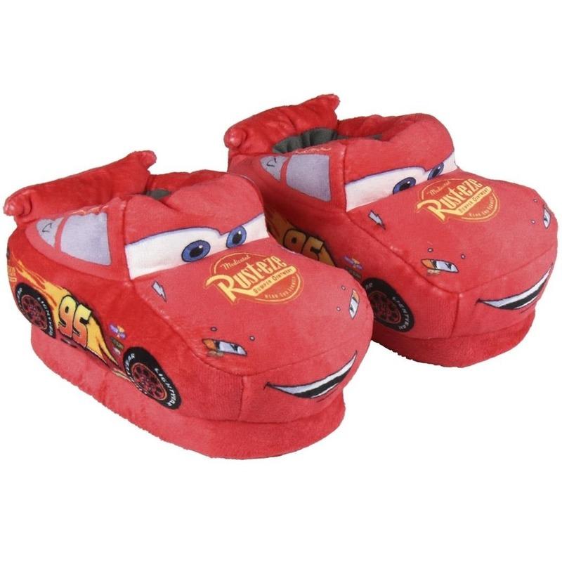 Cars Lightning Mcqueen 3D sloffen-pantoffels rood voor jongens