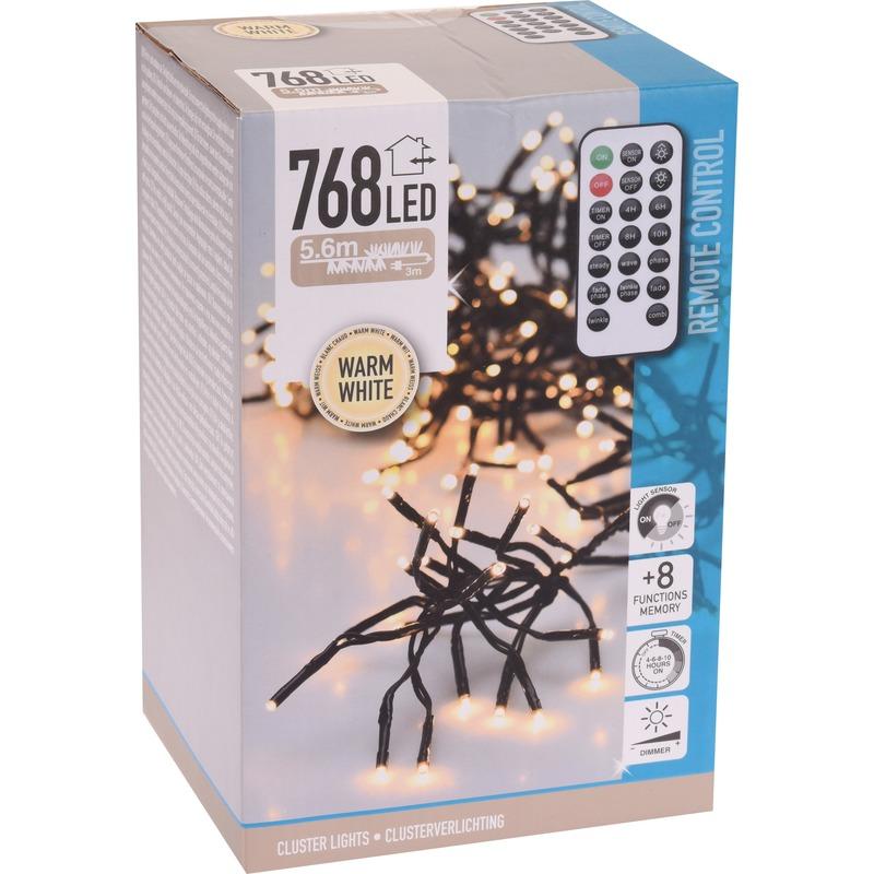 Clusterverlichting op afstandbediening warm buiten 768 lampjes