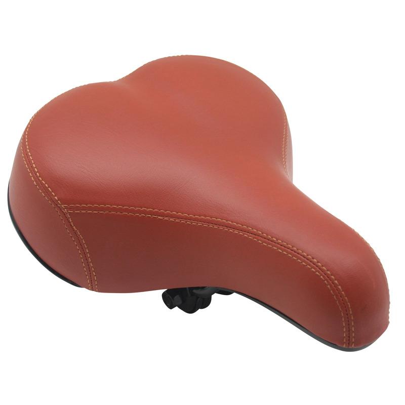 Comfortabele fietszadel bruin met gel vulling