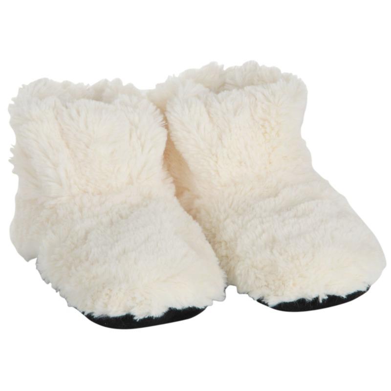 Creme warmte pantoffels-sloffen voor dames
