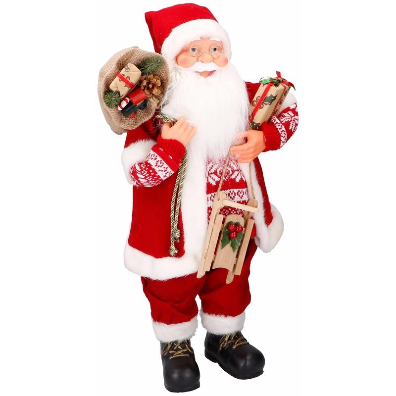 Decoratie kerstman 61 cm