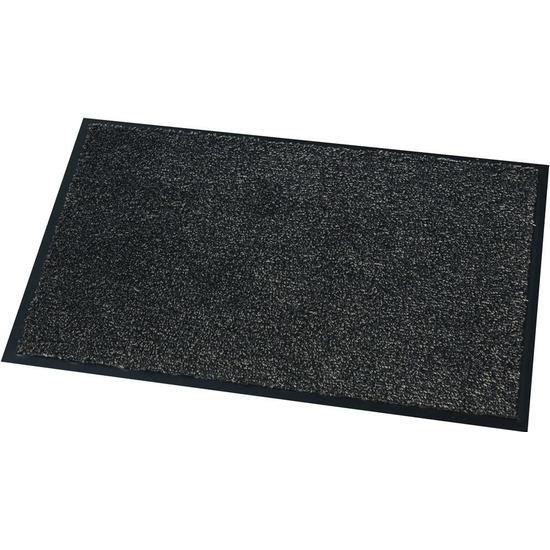 Deurmat-droogloopmat Moorea antraciet grijs 60 x 80 cm