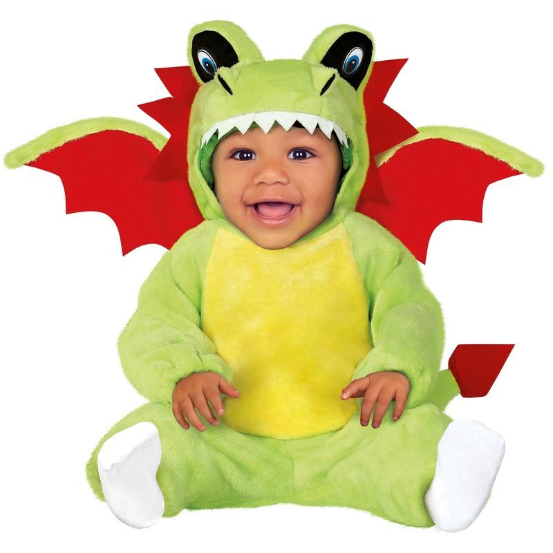 Dierenpak draken verkleed kostuum voor baby-peuter 12-24 mnd