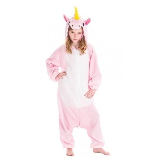 Dierenpak eenhoorn Pinky onesie verkleed kostuum voor kinderen