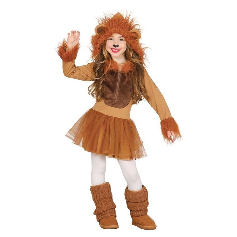 Dierenpak leeuw verkleedjurkje voor meisjes