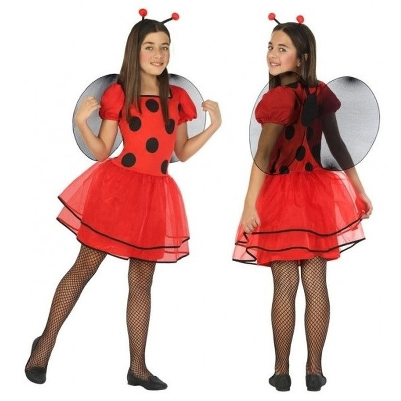 Dierenpak lieveheersbeestje verkleed jurk-jurkje voor meisjes