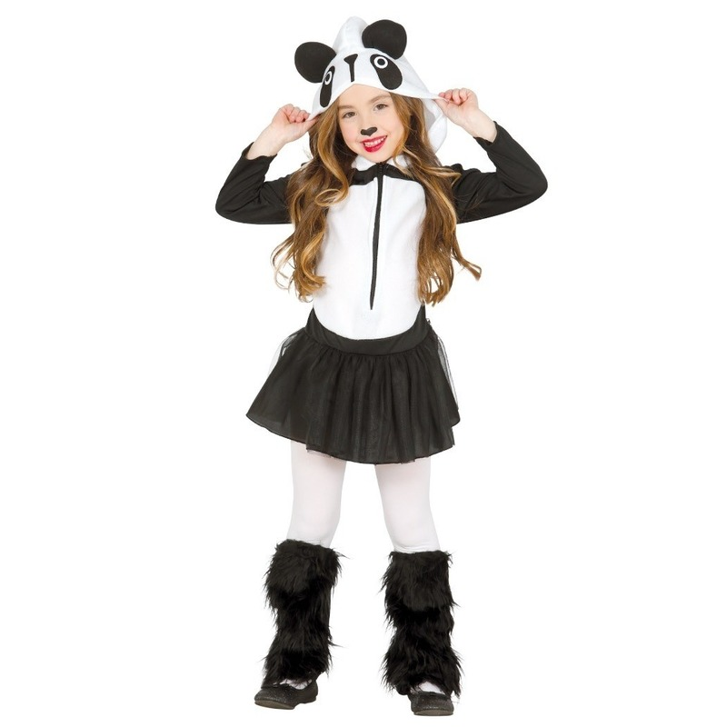 Dierenpak panda verkleedjurkje voor meisjes