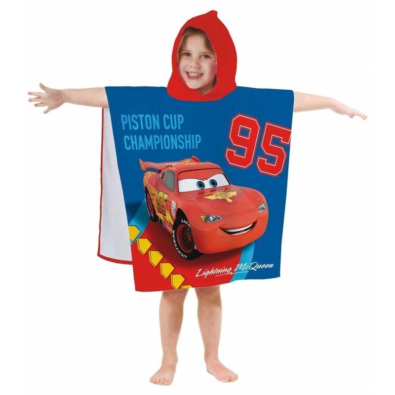 Disney Cars badponcho-handdoek 60 x 120 cm