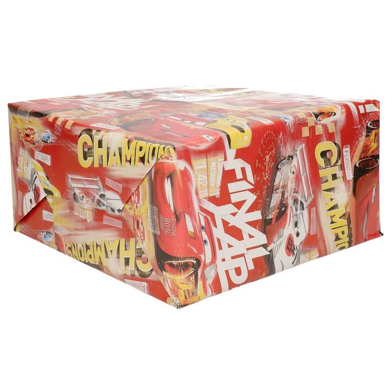 DRollen isney rood inpakpapier Cars champions 200 x 70 cm op rol