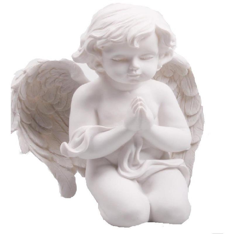 Engel beeldje biddend 22 cm