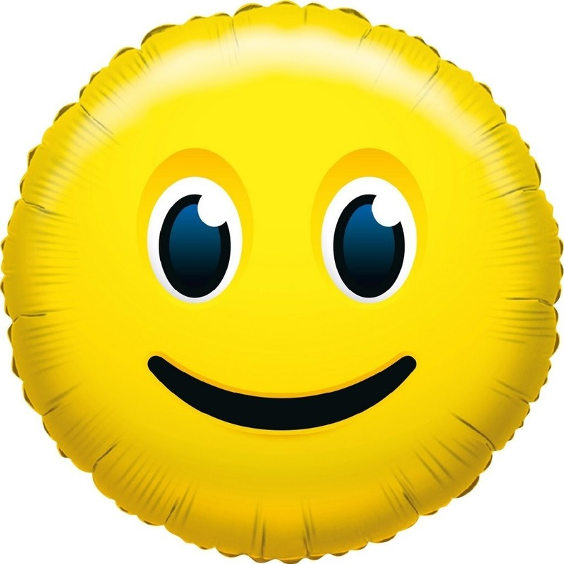 Folie ballon glimlach smiley 35 cm