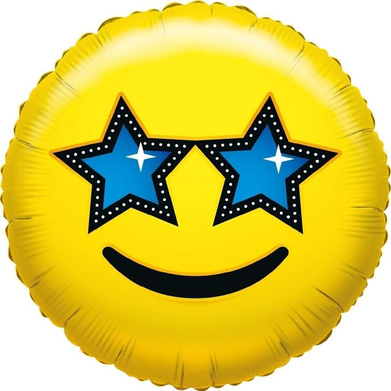 Folie ballon ster smiley 35 cm