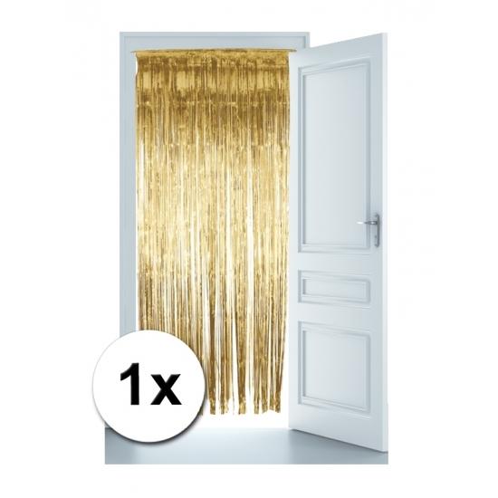 Folie deurgordijn gouden versiering 244 x 91 cm