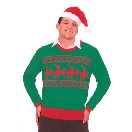 Grote Maten Foute Kersttrui.Foute Kersttrui Rendier Grote Maten Winkel