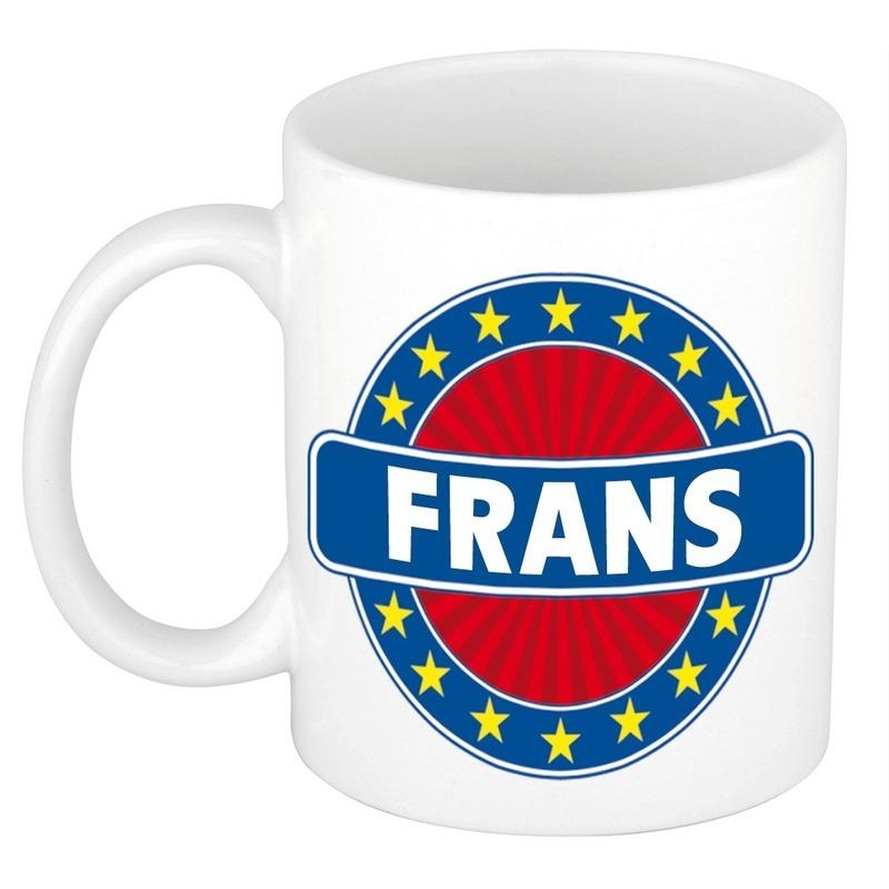 Frans naam koffie mok-beker 300 ml