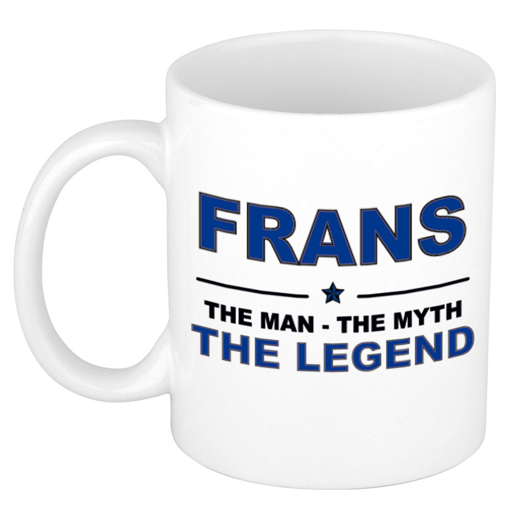 Frans The man, The myth the legend cadeau koffie mok-thee beker 300 ml